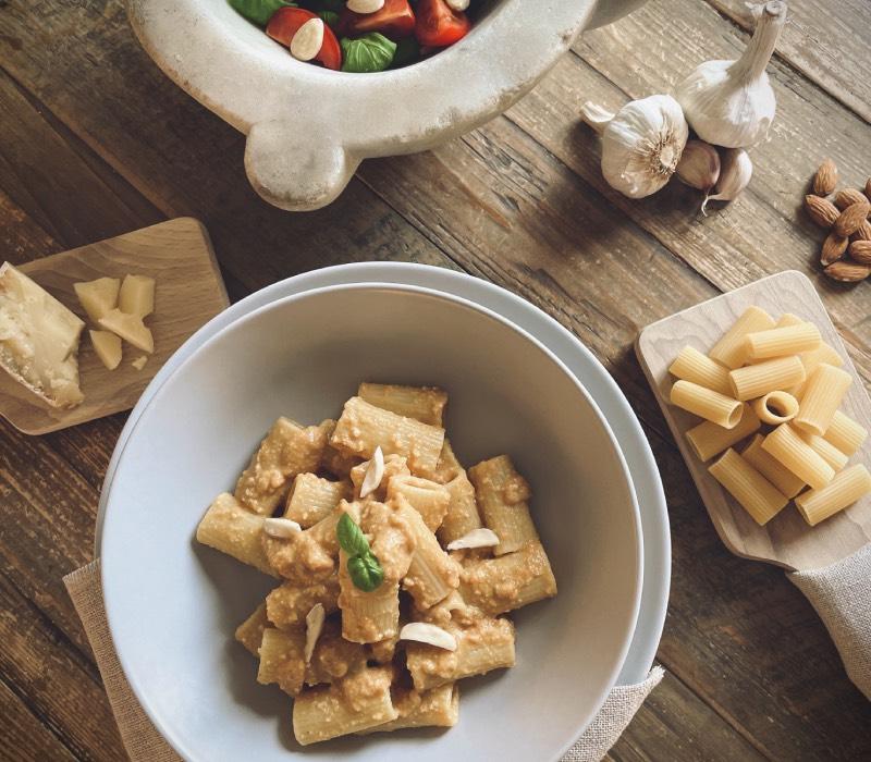 Pasta Garofalo - Rigatoni Garofalo met Pesto alla Trapanese