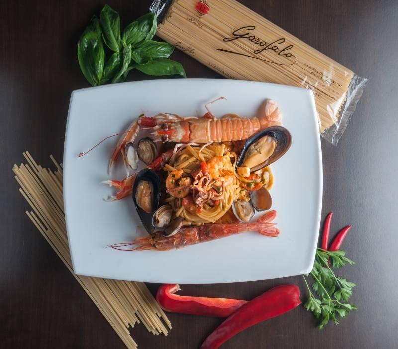 Pasta Garofalo - Linguine Garofalo com frutos do mar