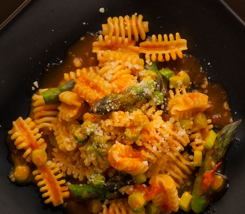 Pasta Garofalo - Radiatori Garofalo with green asparagus