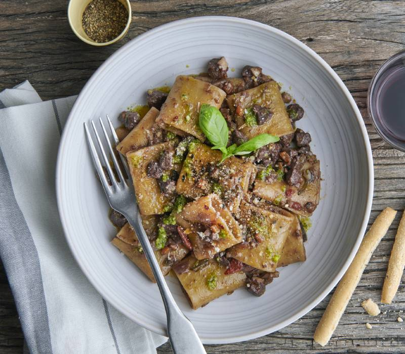 Pasta Garofalo - Schiaffoni with Fennel Seed Infused Meat and Mixed Mushroom Ragu