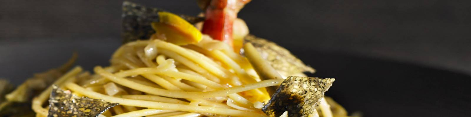Pasta Garofalo - Spaghetti Garofalo, gambas et pétales de caviar