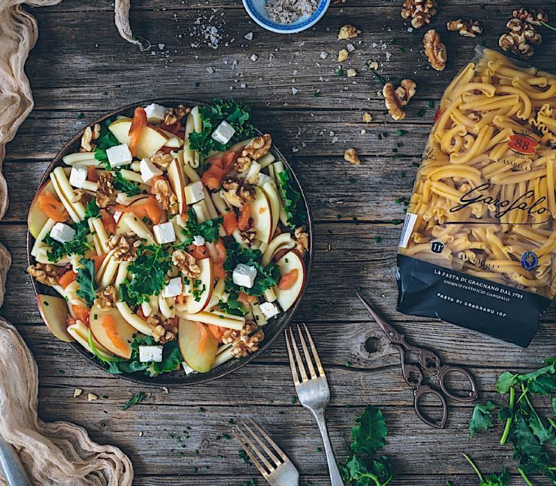 Pasta Garofalo - Salade Caserecce Garofalo, saumon et chou frisé