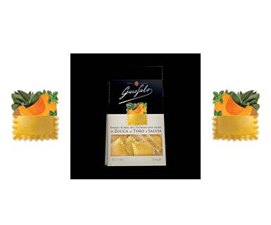 Pasta Garofalo -  Ravioli di zucca al timo e salvia