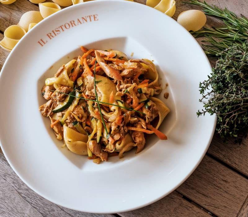 Pasta Garofalo - Lumaconi mit Kaninchenragout