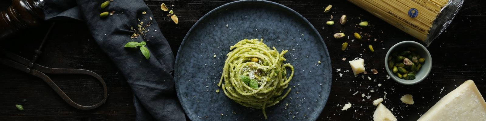 Pasta Garofalo - Spaghetti con salsa pesto de pistacho