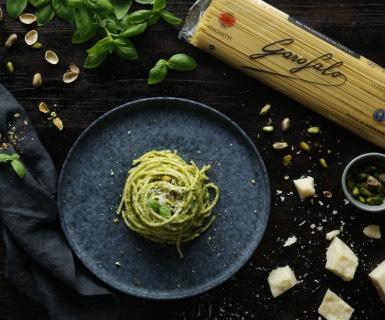 Pasta Garofalo - Spaghetti Garofalo al pesto de pistachos