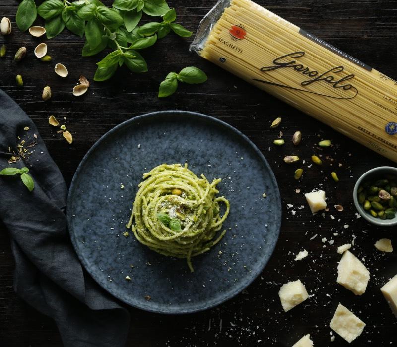 Pasta Garofalo - Spaghetti con pesto de pistachos