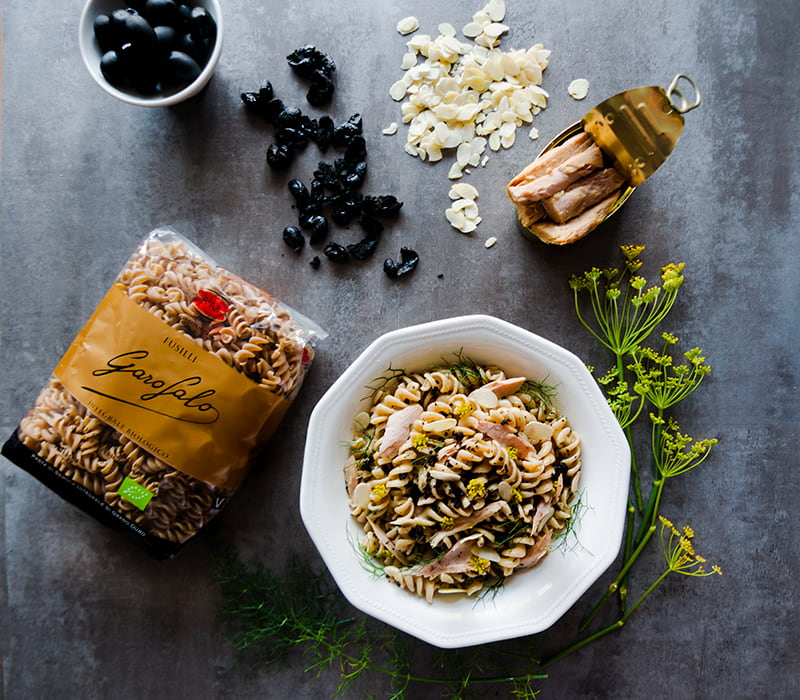Pasta Garofalo - Ensalada de pasta con bonito del norte, hinojo y tierra de aceituna