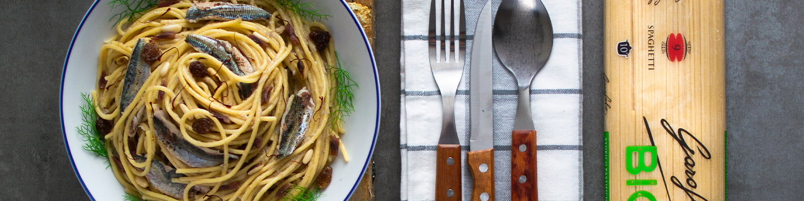 Pasta Garofalo - Spaghetti con sardinas y piñones