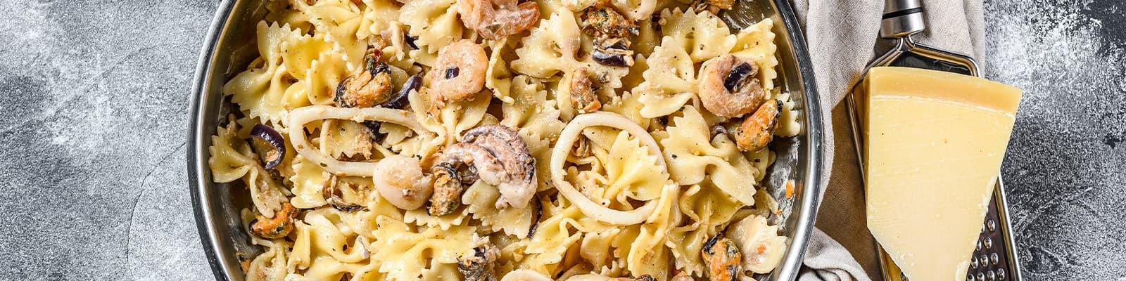 Pasta Garofalo - Farfalle con pulpo, mejillones y gambas