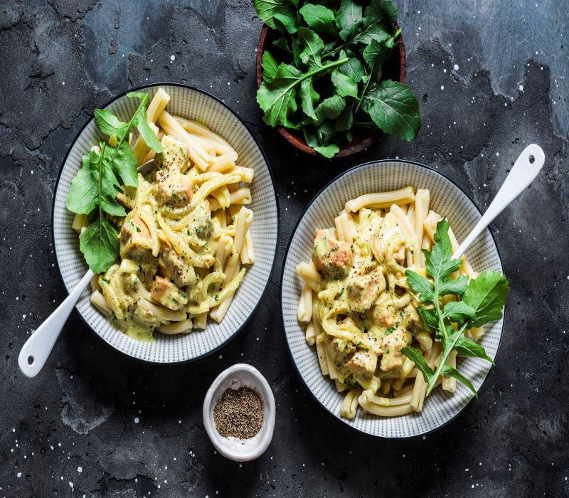 Pasta Garofalo - Casarecce con salmón y salsa de mostaza