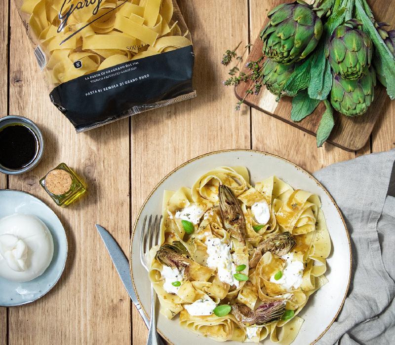 Pasta Garofalo - Pappardelle aux Artichauts et Burrata