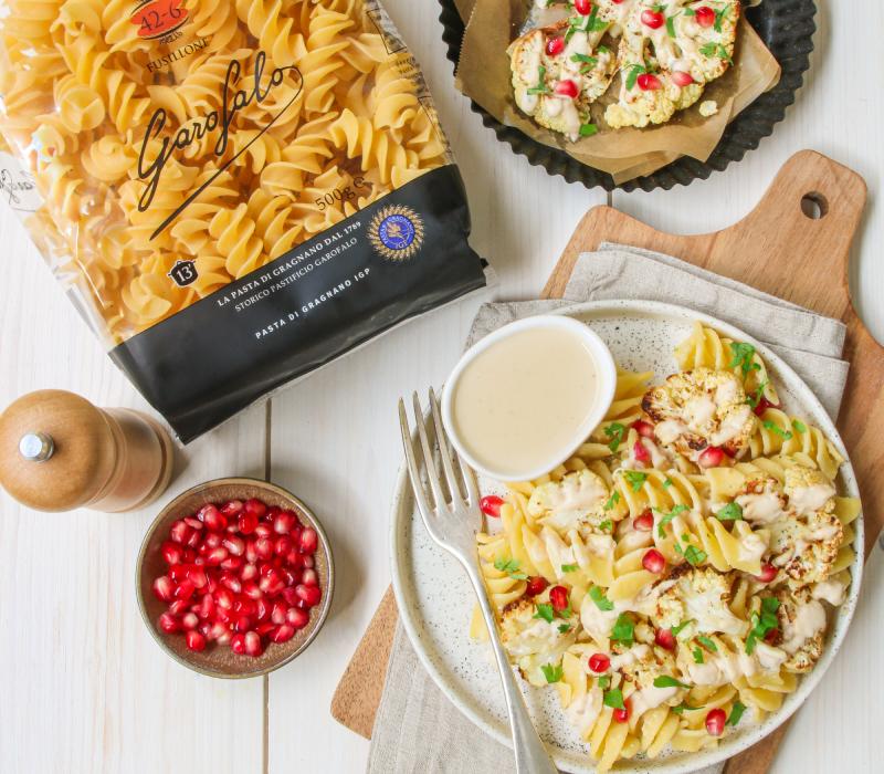 Pasta Garofalo - Fusillone au Chou-fleur Tahini ail et grenade