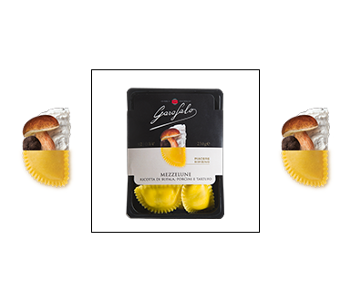 Pasta Garofalo -  Mezzelune Ricotta di Bufala, Porcini e Tartufo