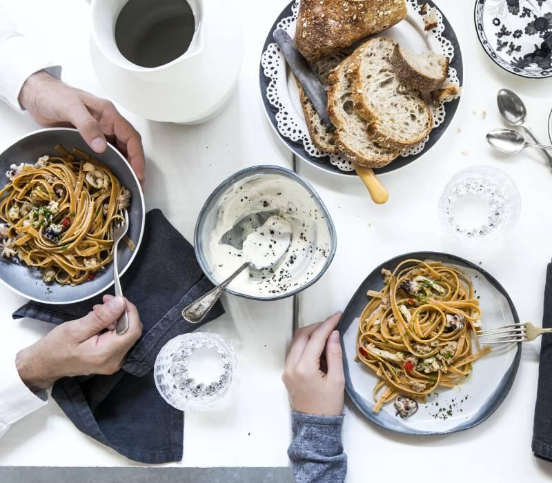Pasta Garofalo - Fettucce integrali con seppie e salsiccia speziata