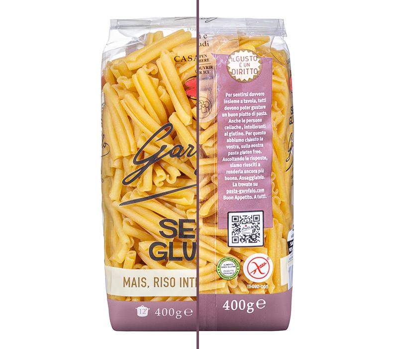 Pasta Garofalo - Racconta nel pack il processo unico da cui nasce la bontà per tutti