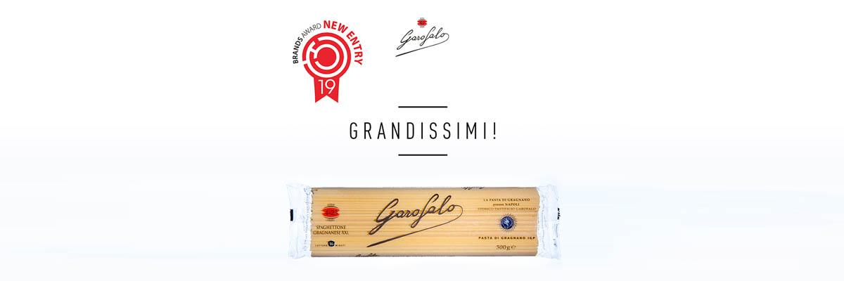 Pasta Garofalo - Gragnanesi Spaghettoni XXL prisbelönades vid Brands Award 2019