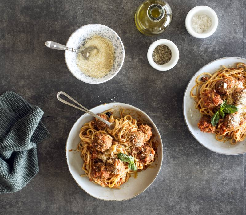 Pasta Garofalo - Spaghetti with meatballs