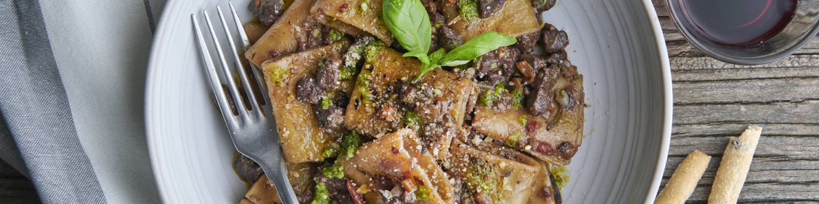 Pasta Garofalo - Schiaffoni with Fennel Seed Infused Meat and Mixed Mushroom Ragu