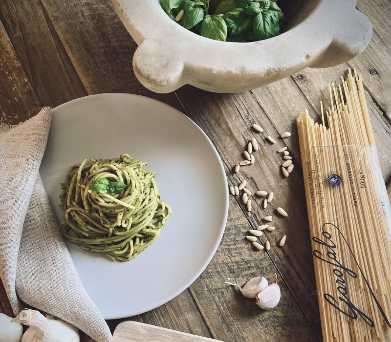 Pasta Garofalo - Spaghetti with Ligurian pesto